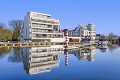 Luxury apartment building on The Nieuwe Kaai, Turnhout, Belgium Stock Images