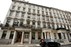 Luxury apartment buildings in Knightsbridge one of the wealthiest and most famous district in London Uk