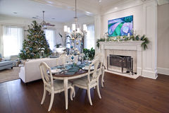 Luxury apartment at christmas Stock Photo