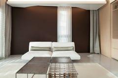 Luxury apartment, comfortable living room Stock Photos