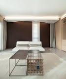 Luxury apartment, comfortable living room Stock Image