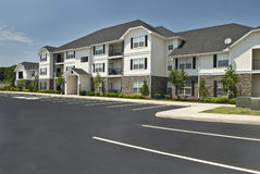 Luxury Apartment Complex Revised. An outside shot of a luxury apartment complex Stock Photography