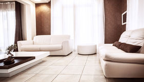 Luxury apartment design Stock Photos