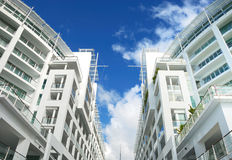 Luxury apartment exterior Royalty Free Stock Photography