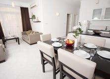 Luxury apartment interior design Stock Photos