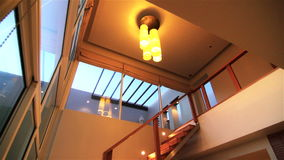 Luxury Apartment Interior. Tilt Down Shot stock footage