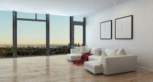 Luxury Apartment Interior With City View Royalty Free Stock Photo