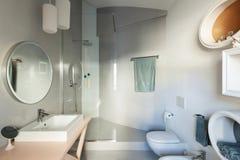 Luxury apartment, modern bathroom Royalty Free Stock Photography