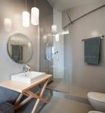 Luxury apartment, modern bathroom Stock Photography