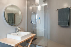 Luxury apartment, modern bathroom Royalty Free Stock Images