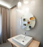Luxury apartment, modern bathroom Royalty Free Stock Image
