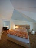 Luxury apartment, modern bedroom Stock Image