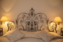 Luxury Apartment Room Bed Royalty Free Stock Photos