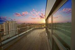 Luxury apartment terrace Stock Photography