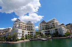 Luxury Apartments. Along Cape Town Waterfront Royalty Free Stock Photos
