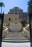 Luxury Apartments. Grand steps up to luxury apartments in Malta Stock Photography