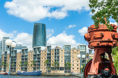 Luxury apartments in the London Docklands at South Quay Stock Photos