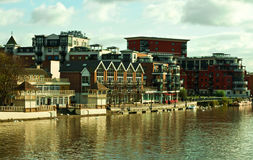 Luxury apartments by the river Royalty Free Stock Photos