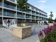 Luxury apartments at Stanley Kubrick Road, Denham Film Studios stock photos