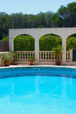 Luxury apartments with swimming pool Stock Photography