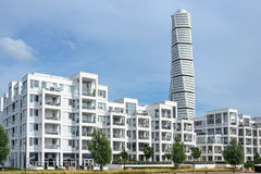 Luxury apartments and Turning Torso skyscraper Royalty Free Stock Images