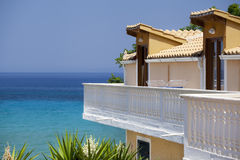 Luxury appartments with a beautiful sea view Royalty Free Stock Images