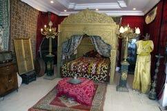 Luxury arabic interior of harem room in Tunisia Royalty Free Stock Photos