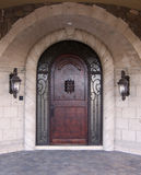 Luxury arched doorway entrance w stock images