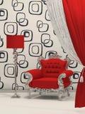 Luxury armchair with standard lamp Stock Photos