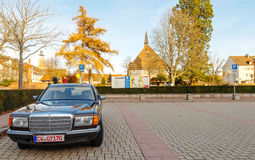 Luxury armored Mercedes-Benz S Klass car Stock Photography