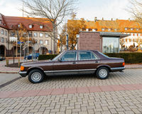 Luxury armored Mercedes-Benz S Klass car Royalty Free Stock Photo