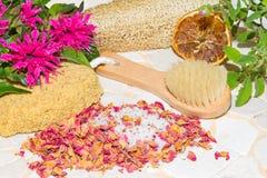 Luxury aromatic bathing accessories Stock Image
