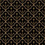 Luxury art deco golden seamless pattern Royalty Free Stock Photo
