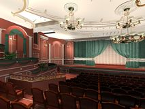 Luxury audience hall Royalty Free Stock Photography