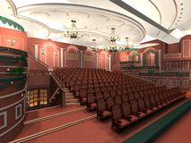 Luxury audience hall Royalty Free Stock Images