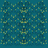 Luxury design Mandalas  green, blue artwork Royalty Free Stock Photos