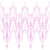 Luxury design Mandalas pink white Geometric Royalty Free Stock Images