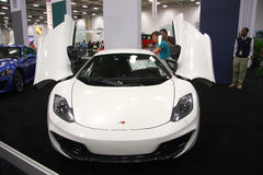 Luxury auto show Stock Images