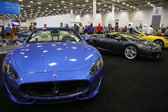 Luxury auto show Royalty Free Stock Images