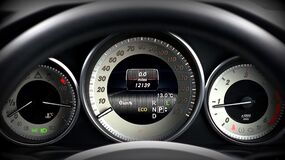 Luxury automobile dashboard Royalty Free Stock Photography