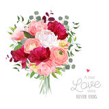 Luxury autumn vector bouquet with ranunculus Royalty Free Stock Images