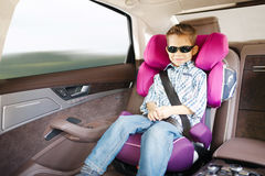 Luxury baby car seat for safety Royalty Free Stock Images