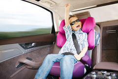 Luxury baby car seat for safety Stock Photo