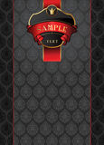 Luxury background. Vector background with vintage banner Stock Image