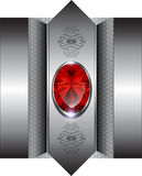 Luxury background. With red gems Royalty Free Stock Photo