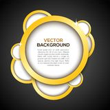 Luxury background in black. Color. Vector illustration Stock Image