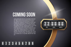Luxury Background Coming Soon and countdown timer Royalty Free Stock Image