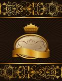 Luxury background with crown Stock Images