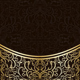 Luxury Background decorated by gold border. Royalty Free Stock Images