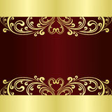 Luxury Background decorated a gold  ornament Stock Images